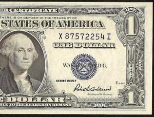 UNC 1935F $1 DOLLAR BILL SILVER CERTIFICATE BLUE SEAL NOTE CURRENCY PAPER MONEY