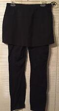 SKIRT SPORTS Womens M Ice Queen Ultra Convert Skort Built in Pants Zippers Black