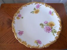 LARGE T & V LIMOGES FRANCE DEPOSE FLORAL PLATE 1907-1919