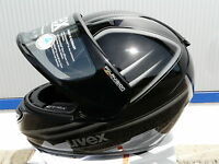 Motorradhelm Uvex  Boss Pola schwarz-anthrazit -shiny für Brillenträger !Gr XS