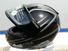 Motorradhelm Uvex  Boss Pola schwarz-anthrazit -shiny für Brillenträger !Gr M