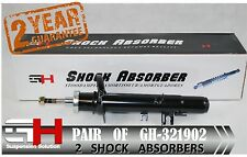 2 BRAND NEW FRONT OIL SHOCK ABSORBERS FOR CITROEN C2, C3 2002-> // GH 321902 //