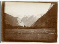 Suisse, Paysage montagneux Vintage citrate print. Tirage citrate  13x18  C