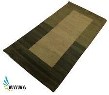 Gabbeh Teppich 70x140 cm Handgeknüpft 100% Wolle Grün