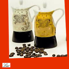 CAFFETTIERA CAFFE ESPRESSO PORCELLANA GHISA X CUCINA 2 TAZZE VERDE VINTAGE CASA