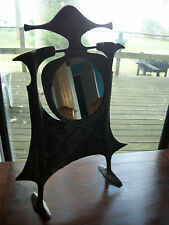 Sand Cast Malefacent Mirror Castle Medieval Metal Art Signed Dated Fantasy Punk