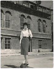 Enigmatic Beauty Carolyn Jones Original 1959 Fashionable Mid-Century Photograph