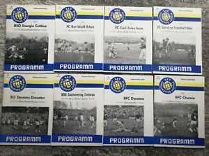 75/76 1.FC Lok Leipzig - Dynamo Zwickau BFC HFC FCV CZ Jena Erfurt Energie DDR