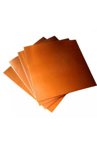 Copper sheet / plate -  0.5mm thick - 300mm x 100mm - Grade C101 - Free cutting