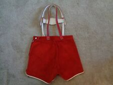 Red & White Leather Hearts Children's Lederhosen Vintage