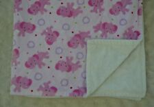 Pink Elephant Baby Blanket White Green Polka Dots Purple Circles Red Security