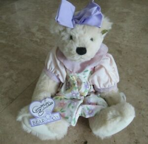 Annette Funicello Collectible Bear, NWT, with butterfly