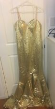 Hebeos Trumpet/Mermaid/Sweetheart Sleeveless Sweep/Train Sequins Formal Dress