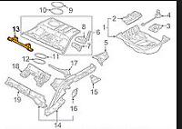 Audi A4 B6  Rear Seat Isofix Bracket  8E0813546B NEW GENUINE