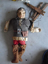 RARE 1930s BIG WPA Depression Era Jack and the Beanstalk Paper Mache Puppet LOOK