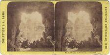 Exposition universelle de Paris 1878 Le Palais vu de la Grotte STEREO Vintage