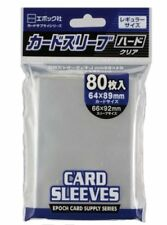 Epoch card supply series trading card size hard 1 pack 80sleeves 64x89mm regular