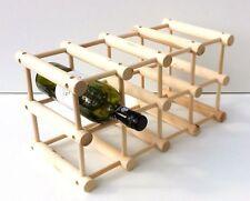 Wooden Free Standing wine rack, 12 Bottles Bar Kitchen Stand,FLAT pack