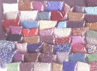2 x 10 Grams Packets Seed Beads Cross Stitch Embroidery 11/0 2mm Choose Colours
