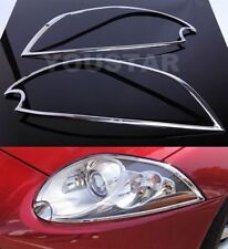 FAST EMS x2 CHROME Head Light Trims for JAGUAR XK XKR XKR-S 06-10 X150 FACELIFT