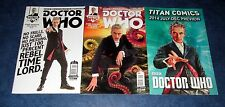 DOCTOR WHO 12th #1 2 Peter Capaldi variant set 1st print TITAN COMIC BBC TV NM