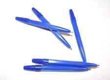 MINI SMALL BLUE BALL POINT PENS- (20 PENS) GOLF  HALF NORMAL SIZE BLUE INK