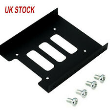"Metal Hard Drive Holder PC 2.5"" to 3.5"" SSD to HDD Mounting Adapter Bracket UK"