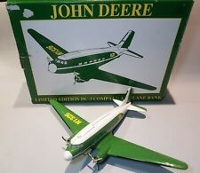 John Deere Collectible DC-3 Company METAL Airplane Bank with box PLANE SAVERS