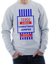Tesco's Value Christmas Jumper - Sweatshirt Funny Xmas Gift - 3 Colours