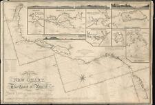 1847 Blachford Blueback Nautical Chart of Map of South Brazil