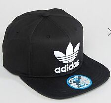 NEW ADIDAS ORIGINALS TREFOIL TRUCKER CAP BASEBALL HAT BLACK MEN WOMEN SNAP BACK