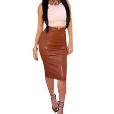 Vintage Women High Waist Pleated A Line Long Skirt Front Slit Belted Maxi Skirt