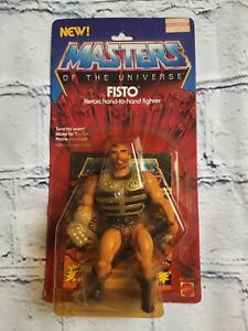 Vintage 1983 MASTERS OF THE UNIVERSE MOTU FISTO ACTION FIGURE MOC MATTEL!!