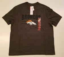 NFL Men's Team Apparel Charcoal Shirt Size XL X-Large Denver Broncos Football
