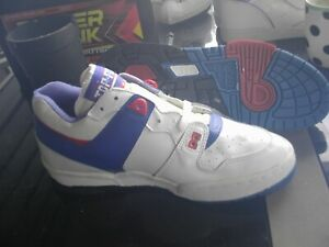 top fit red white blue athletic shoes