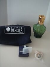 LAMPE BERGER CATALYTIC FRAGRANCE OIL BURNER  - Emerald Green w/Gold Lid - NEW!!