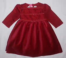 NWT BABY GIRLS GYMBOREE DRESS 18-24 mth~Red-Silk-Velvet~Poofy Special Occassion