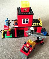 LEGO Duplo 4664 Feuerwehr Fire Station Auto Drehleiter Sirene Handy  Hydrant
