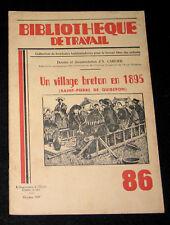 VILLAGE BRETON en 1895 - B. TRAVAIL n° 86-1949 - SAINT PIERRE DE QUIBERON BREIZH