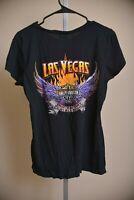 Harley-Davidson Motorcycles Las Vegas Nevada Black T Shirt Women's size L