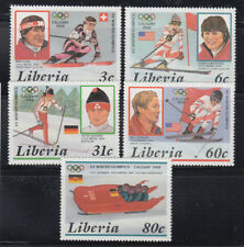 Liberia 1987  Winter Olympic Winners Sc 1049-1053  complete mint never hinged