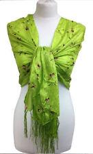 Châles/écharpe verte à motif Floral pour femme