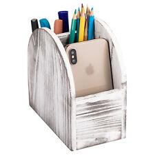 Remote Control Clothes Phone Organizer Holder Desk Wood Storage Basket Box