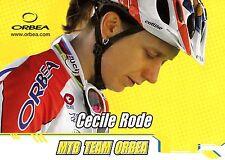 CYCLISME carte cycliste CECILE RODE équipe MTB TEAM ORBEA