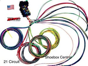 Rebel Wire 21 Circuit Universal Street Rod Wiring Harness USA Made