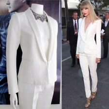 MUST SEE* Sandro Paris White Tuxedo 2 piece blazer-skinny pants Sz FR 38 - US 6