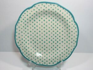 The Pioneer Woman Retro Dot Teal Dinner Plate Mix and Match