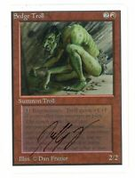 Sedge Troll SIGNED Dan Frazier - UNLIMITED - Old School - MTG Magic #01