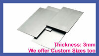 MILD STEEL SHEET METAL SQUARE PLATE 3mm 8 SIZES guillotine cut With 2 HOLES