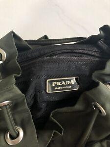 Authentic PRADA Small Nylon Drawstring Backpack Bag